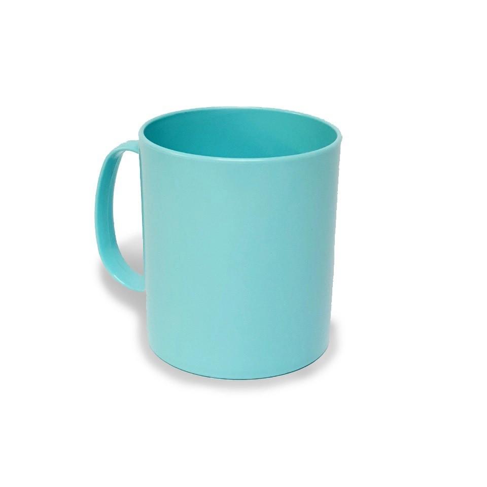 Caneca polímero 350ml  azul claro - 12 unidades  - ECONOMIZOU