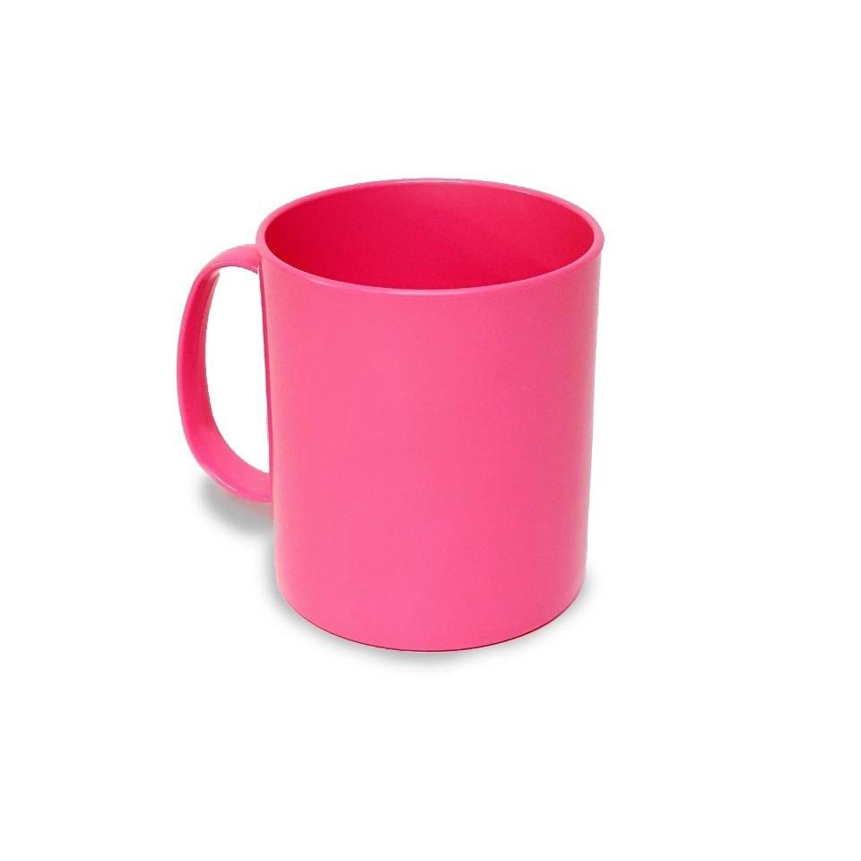 Caneca polímero 350ml Rosa - 12 unidades  - ECONOMIZOU