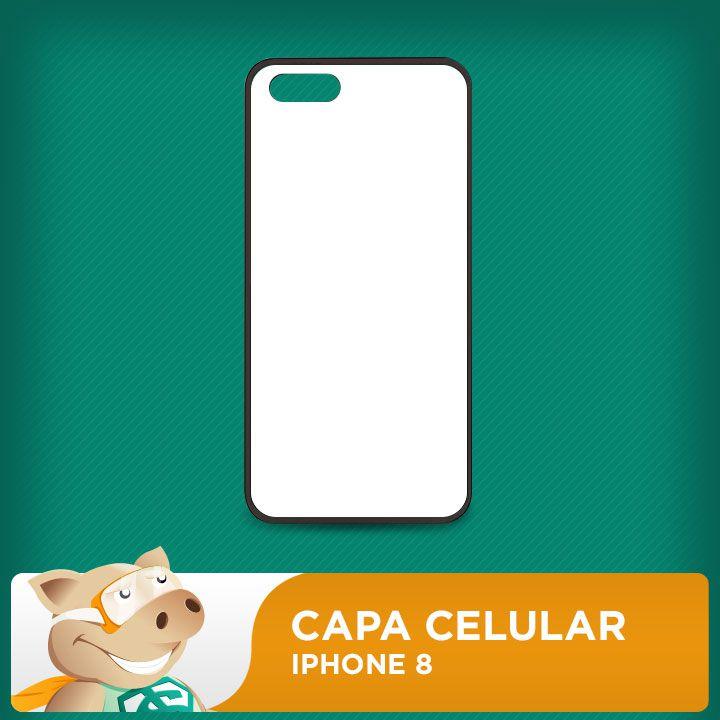Capa Iphone 8 P/sublimação  - ECONOMIZOU