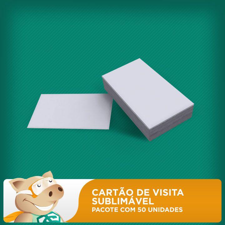 Cartão de Visita Sublimável - Pacote com 50 unidades  - ECONOMIZOU