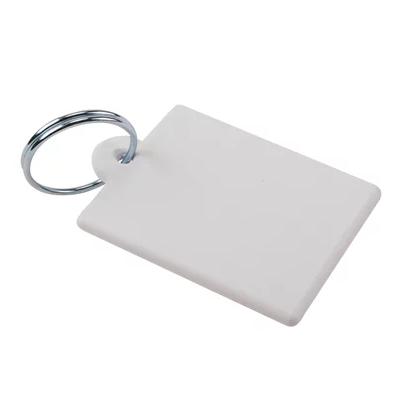 Chaveiro de Polímero 4x4cm Quadrado - Pacote com 10 unidades   - ECONOMIZOU