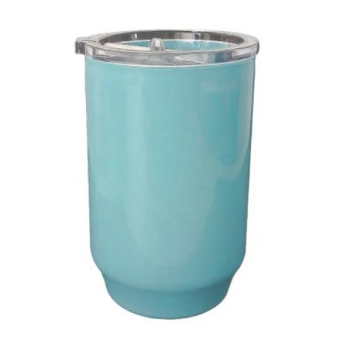 Copo De Polimero 550ml Azul Com Tampa Acrilica - UNIDADE  - ECONOMIZOU
