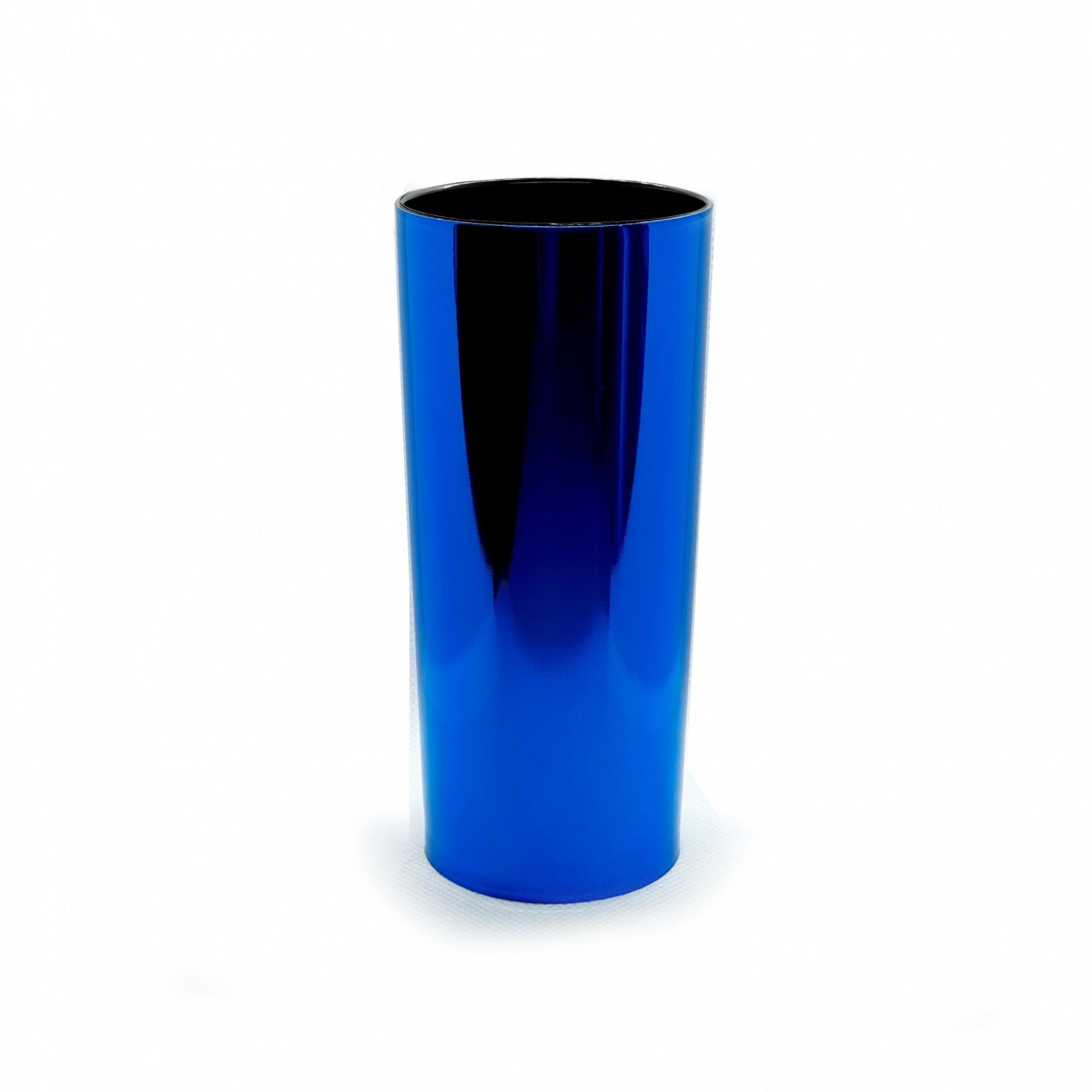 Copo long drink foil azul  - ECONOMIZOU