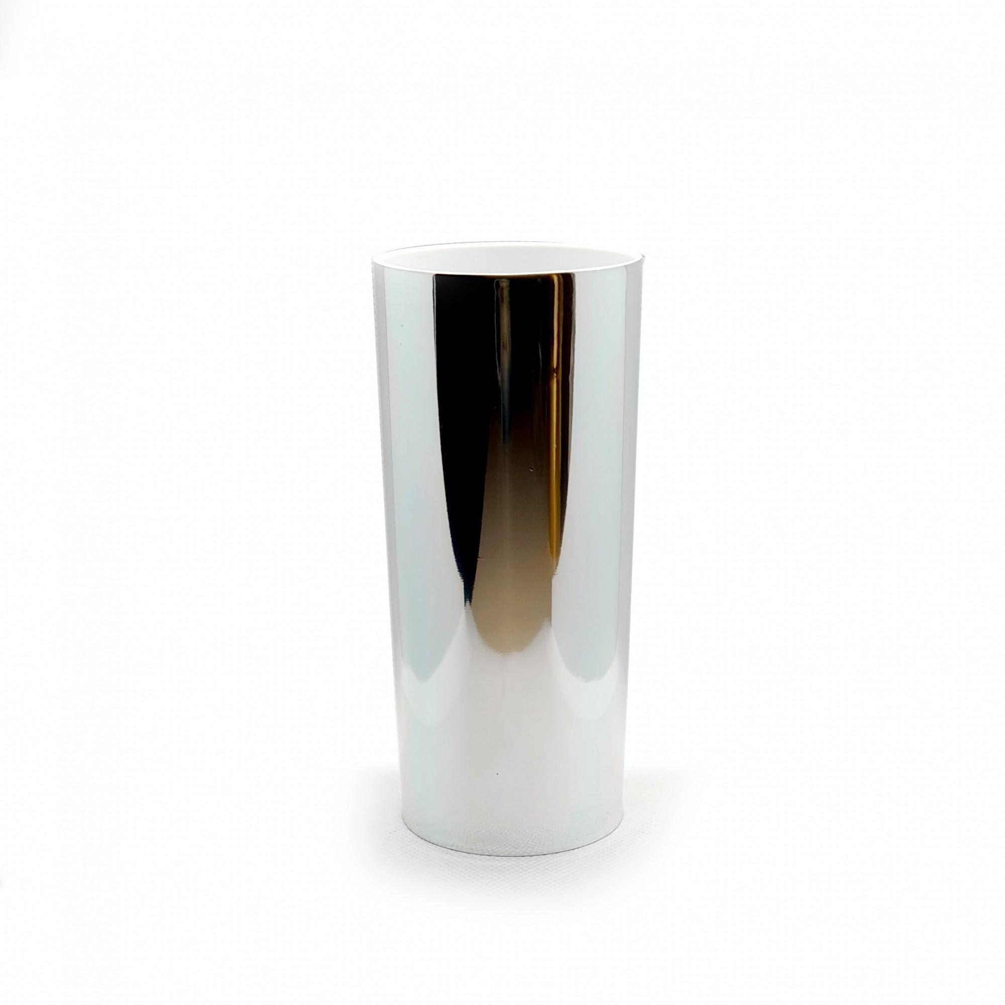 Copo long drink foil prateado  - ECONOMIZOU