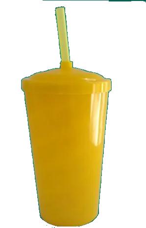 Copo Twister Amarelo Leitoso  - ECONOMIZOU