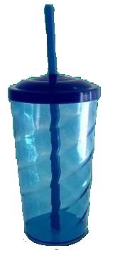 Copo Twister Azul Transparente  - ECONOMIZOU