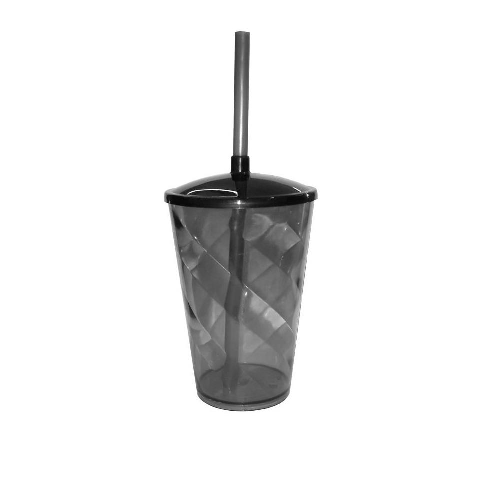 Copo Twister Preto Translúcido  - ECONOMIZOU