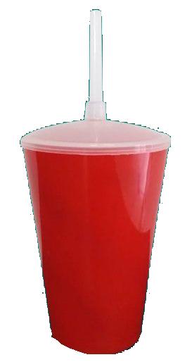 Copo Twister Vermelho Leitoso  - ECONOMIZOU