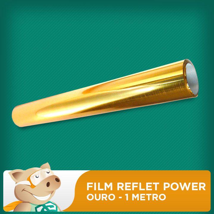 Film Reflet Power Ouro - 1 Metro  - ECONOMIZOU