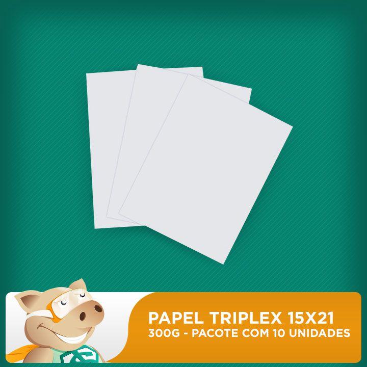 Folha Triplex 300gr  - 15x21cm - Pacote Com 10 Unidades  - ECONOMIZOU