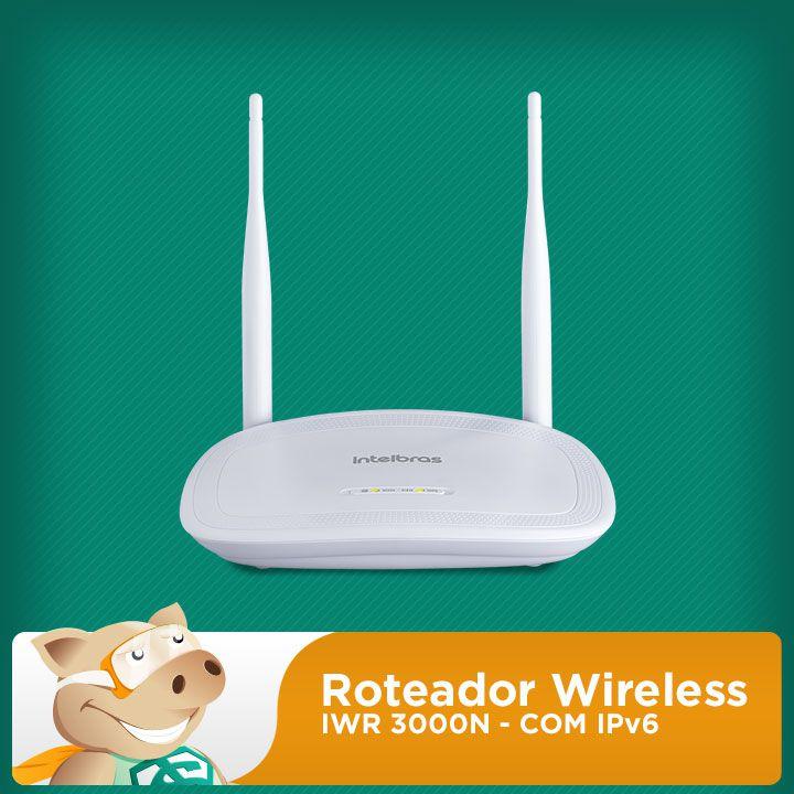 IWR 3000N Roteador Wireless com IPv6  - ECONOMIZOU