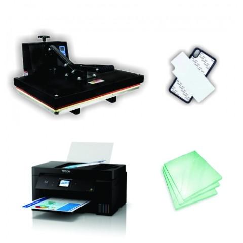 Kit Sublimação Iniciante A3 (prensa 40x60 + impressora A3 + suprimentos + perfil de cores GRATIS!)  - ECONOMIZOU