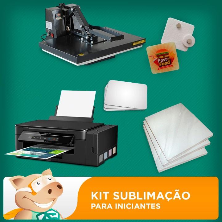 Kit sublimação A4 + 40x60 (prensa 40x60 + impressora A4 +  suprimentos + perfil de cores GRATIS!)   - ECONOMIZOU
