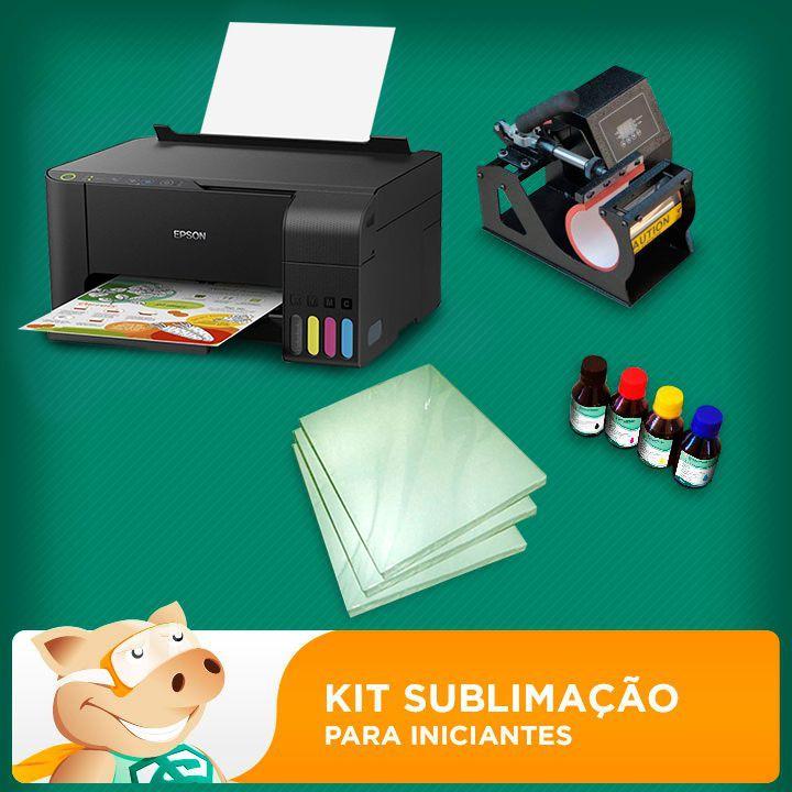 Kit sublimação A4  c/ prensa de canecas (prensa de canecas + impressora A4+ perfil de cores GRATIS!)   - ECONOMIZOU