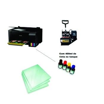 Kit sublimação A4  c/ prensa de canecas (prensa de canecas + multifuncional A4 L3150+ perfil de cores GRATIS!)  - ECONOMIZOU