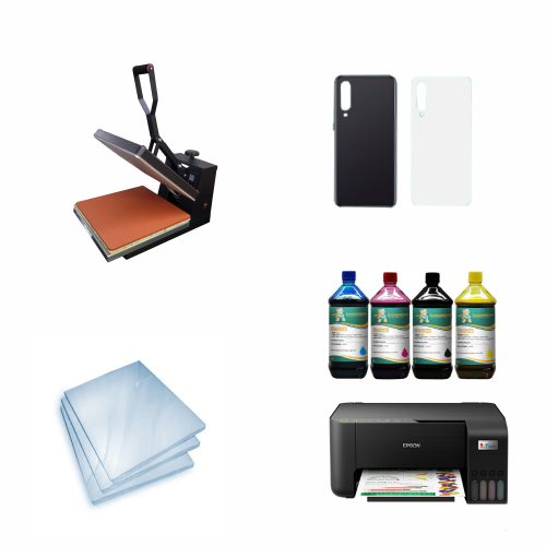 Kit Sublimação Iniciante A4 (prensa 38x38 + Multifuncional A4 L3250 + suprimentos + perfil de cores GRATIS!)  - ECONOMIZOU