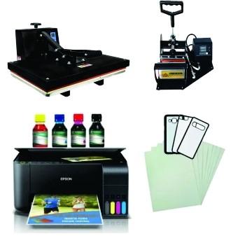 Kit Sublimação Prensa 40x60 + Multifuncional L3150 + Prensa Canecas Envio Imediato!  - ECONOMIZOU