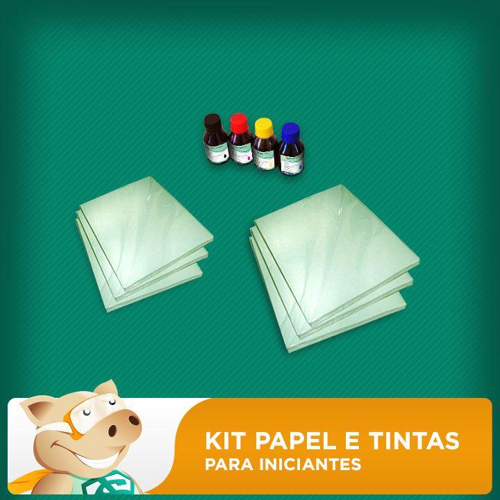 Kit sublimação tintas + papel sublimatico  - ECONOMIZOU