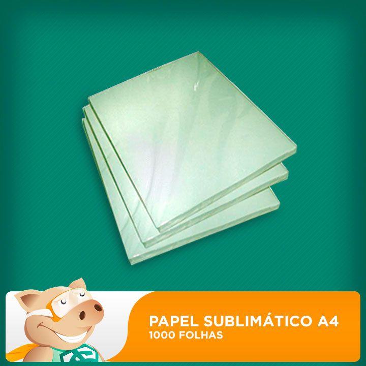 Papel Sublimático Resinado A4 90gr - 1000 folhas   - ECONOMIZOU