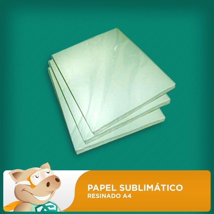 Papel Sublimático Resinado A4 90gr - 500 folhas   - ECONOMIZOU