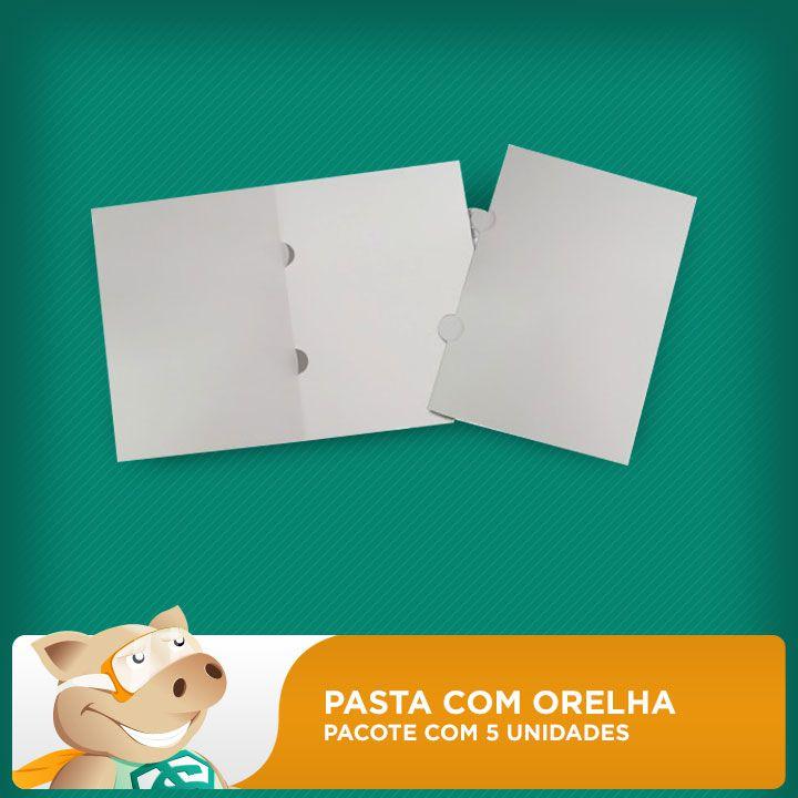Pasta Com Orelha Sublimável - Pacote Com 5 Unidades  - ECONOMIZOU