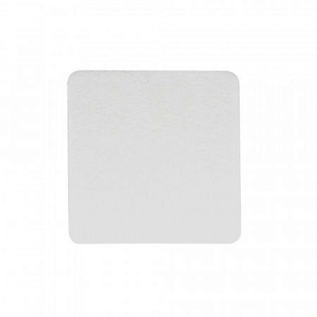 Placa de Sinalização Com Adesivo Quadrada - 9cm x 9cm - Pacote Com 10 Unidades  - ECONOMIZOU