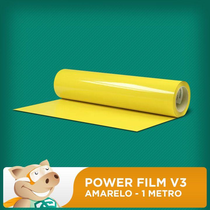 Power Film V3 Amarelo - 1 Metro  - ECONOMIZOU