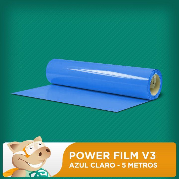 Power Film V3 Azul Claro - 5 Metros  - ECONOMIZOU
