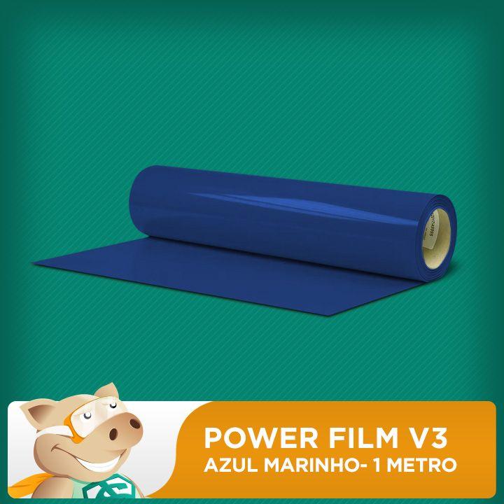 Power Film V3 Azul Marinho - 1 Metro  - ECONOMIZOU