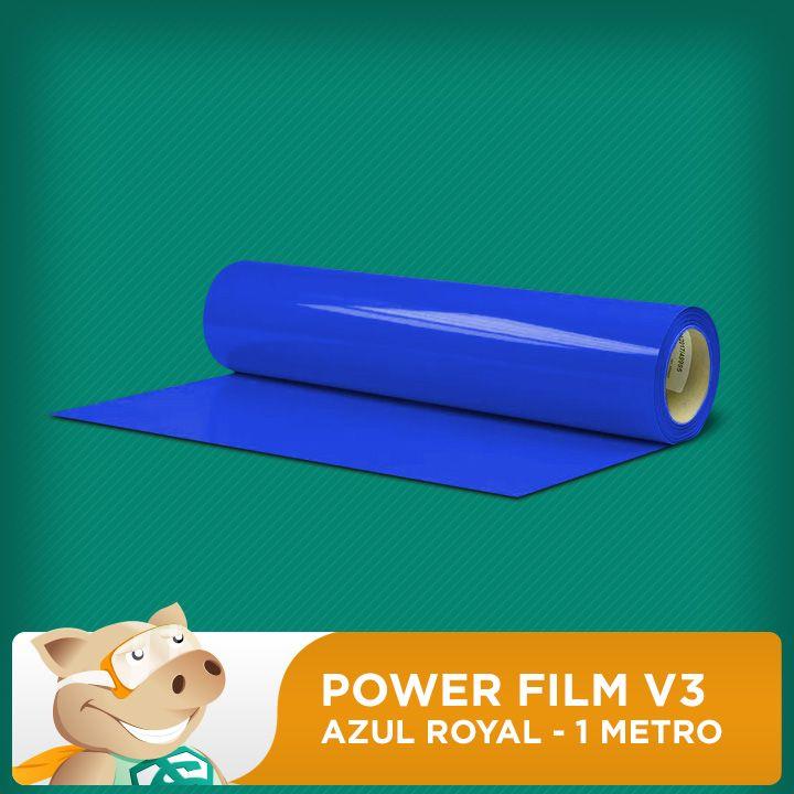 Power Film V3 Azul Royal - 1 Metro  - ECONOMIZOU