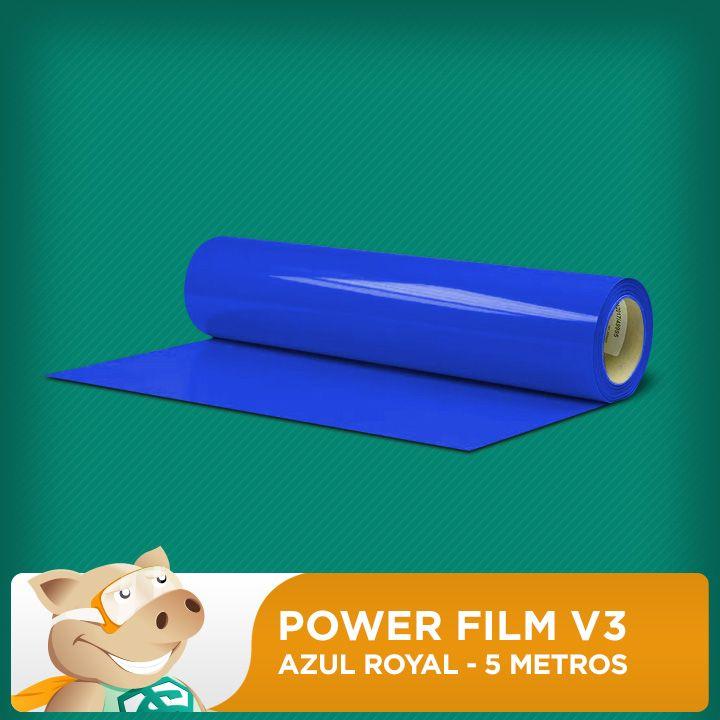 Power Film V3 Azul Royal - 5 Metros  - ECONOMIZOU