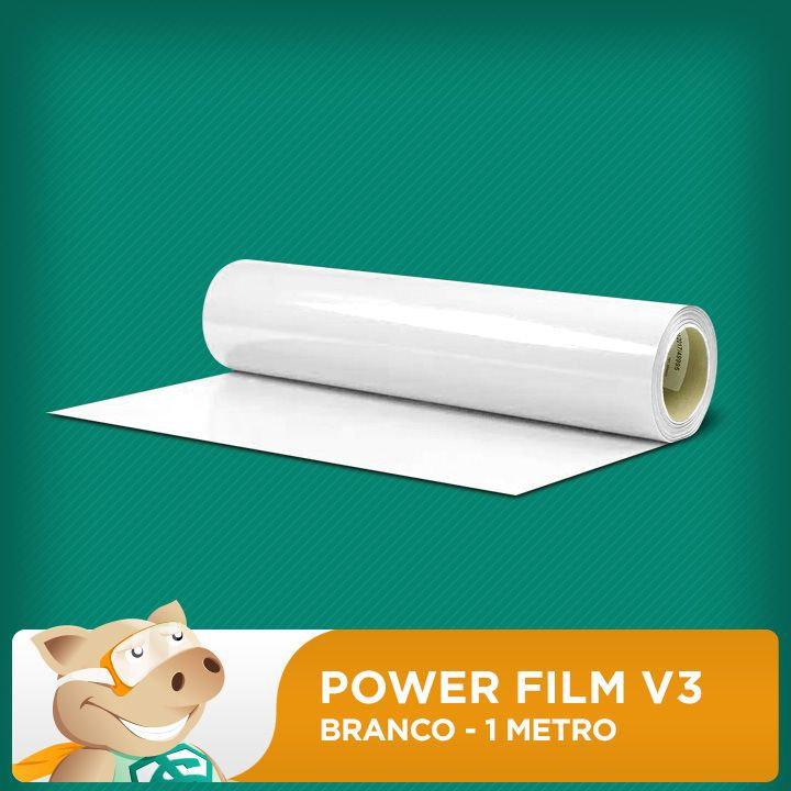 Power Film V3 Branco - 1 Metro  - ECONOMIZOU