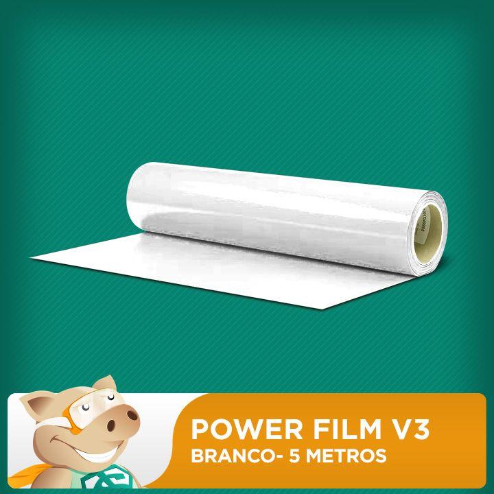 Power Film V3 Branco - 5 Metros  - ECONOMIZOU