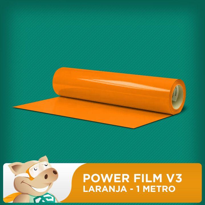 Power Film V3 Laranja - 1 Metro  - ECONOMIZOU