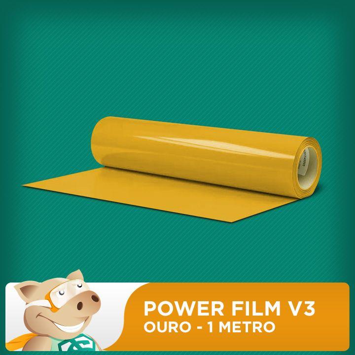 Power Film V3 Ouro - 1 Metro  - ECONOMIZOU