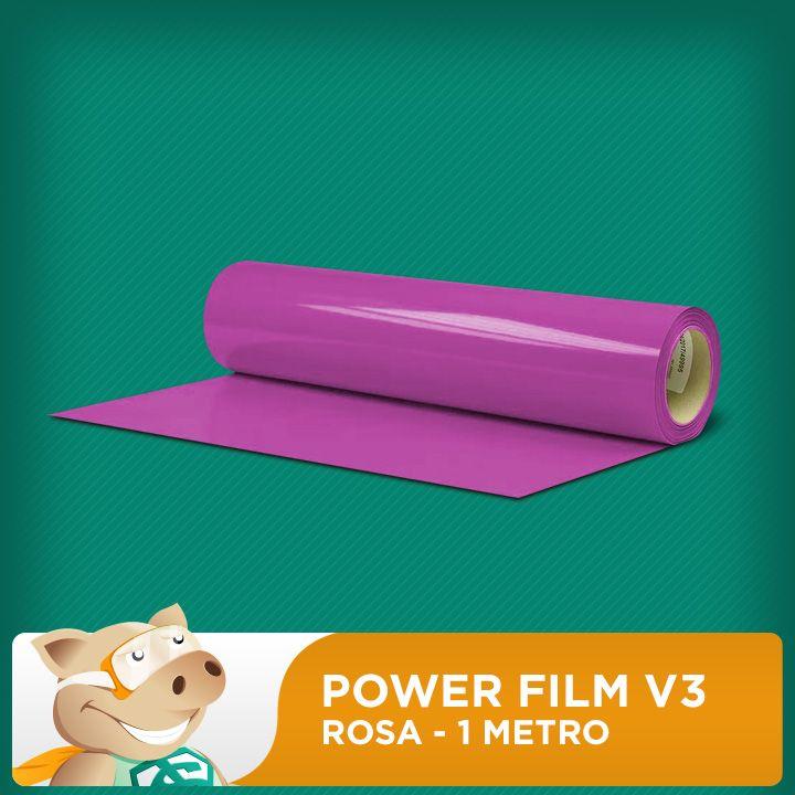 Power Film V3 Rosa - 1 Metro  - ECONOMIZOU