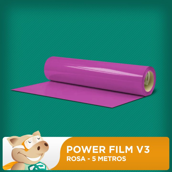 Power Film V3 Rosa- 5 Metros  - ECONOMIZOU