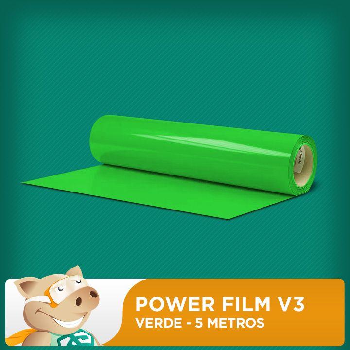 Power Film V3 Verde - 5 Metros  - ECONOMIZOU