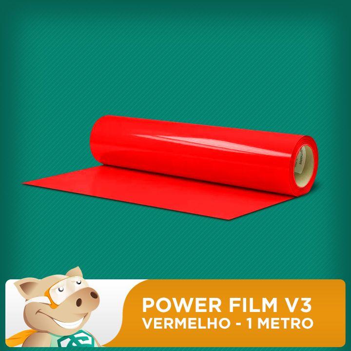 Power Film V3 Vermelho - 1 Metro  - ECONOMIZOU
