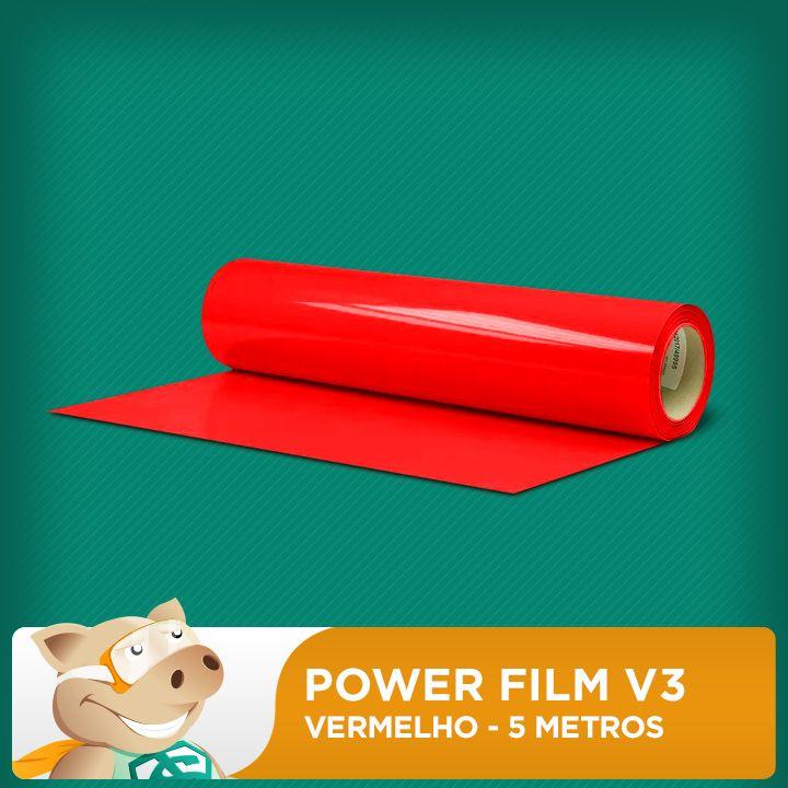 Power Film V3 Vermelho - 5 Metros  - ECONOMIZOU