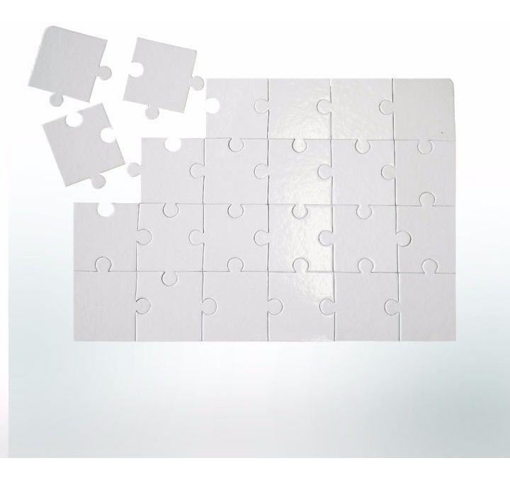 Quebra-Cabeça Cartonado - 18x14cm - Retangular - 35 peças - 100 unidades - 10 Pacotes com 10 unidades   - ECONOMIZOU