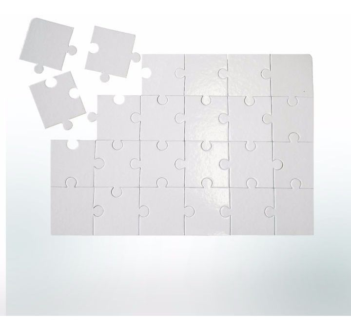Quebra-Cabeça Cartonado - 18x14cm - Retangular - 35 peças - 50 unidades - 5 Pacotes com 10 unidades   - ECONOMIZOU