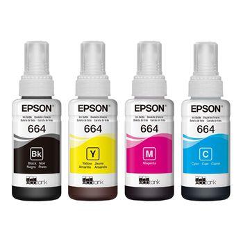 Refil De Tintas Epson L200/l355/l555 Original C/ Menor Preço  - ECONOMIZOU