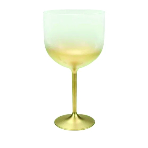 Taça de Gim Degradê Dourada  - ECONOMIZOU