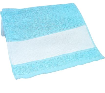 Toalha de mão (lavabinho) para Sublimação - Azul  - ECONOMIZOU