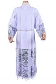 Alb Lace Liturgical JHS 60cm Lining Black TU010