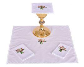 Altar Set Cotton Wheat Cross and Grape B007