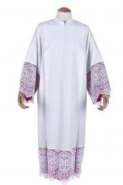 Pleats Liturgical Lace Tunic JHS 30cm Lining Violaceous TU021
