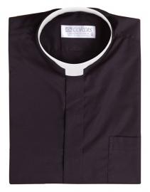 Roman Clerical Shirt Short Sleeve Black CR167
