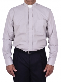 Traditional Clerical Shirt Long Sleeve Gray CT068